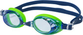 Leader Relay Swimming Goggles - Blue/Blue Green