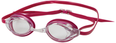 Leader Zenith Women's Swimming Narrow Goggles - Clear/Ruby