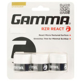 Gamma RZR React Overgrip - White