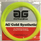 AG Gold Synthetic 16G Tennis String Set - Yellow