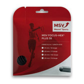MSV Focus HEX Plus 38 Tennis String Set, 1.25 Gauge, Black