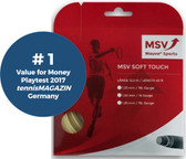 MSV Soft Touch Tennis String, 1.30 Gauge, Natural