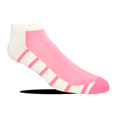 Jox Sox Women's Supra Lite Limited Low-Cut Sock - White/Pink
