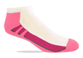 Jox Sox Women's Cushioned Low Cut Sock - White/Pink