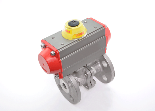 "1"" JFlow DM2533 Flanged Ball Valve & SR Pneumatic Actuator - ValveMan.com"