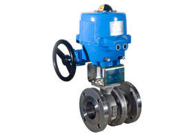 Stainless Disc 10 Bonomi SR500S Butterfly Valve with Spring Return Actuator Epoxy Coated Cast Iron Wafer Style