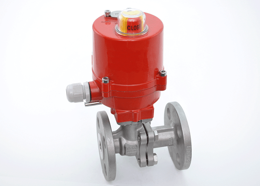 "1-1/2"" JFlow DM2533 Flanged Ball Valve with Electric Actuator - ValveMan.com"