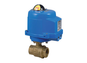 Bonomi M8E068-00 Series - Ball Valve, 2-way, Brass, FNPT Threaded, Full Port, with Metal Electric Actuator