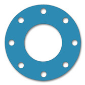 Teadit, NSF-61 SAN 1082, Full Face Gasket, Pipe Size: 5(5) Inches (12.7Cm), Thickness: 1/32(0.03125) Inches (0.79375mm), Pressure: 150# (psi), Inner Diameter: 5 9/16(5.5625)Inches (14.12875Cm), Outer Diameter: 10(10)Inches (25.4Cm), With 8 - 7/8(0.875) (2.2225Cm) Bolt Holes, Part Number: CFF1082.5IN.031.150