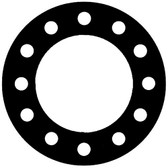 NSF-61 Certified EPDM, Full Face Gasket, Pipe Size: 10(10) Inches (25.4Cm), Thickness: 1/16(0.062) Inches (1.5748mm), Pressure Tolerance: 150psi, Inner Diameter: 10 3/4(10.75)Inches (27.305Cm), Outer Diameter: 16(16)Inches (40.64Cm), With 12 - 1(1) (2.54Cm) Bolt Holes, Part Number: CFF384-04.1000.062.150