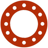 Pressure Class 300# 1//8 Thick 10 Pipe Size Sterling Seal CFF7237.1000.125.300X50 7237 Red Rubber Full Face Gasket Pack of 50 10.75 ID