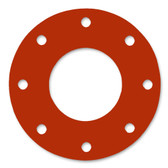 7175 Style Silicone 50-60 Durometer Full Face Gasket For Pipe Size: 6(6) Inches (15.24Cm), Thickness: 1/16(0.0625) Inches (0.15875Cm), Pressure: 150# (psi). Part Number: CFF7237.600.062.150