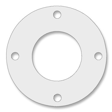7530 Style PTFE, Virgin PTFE Full Face Gasket For Pipe Size: 1(1) Inches (2.54Cm), Thickness: 1/8(0.125) Inches (0.3175Cm), Pressure: 150# (psi). Part Number: CFF7530.100.125.150
