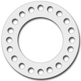 7530 Style PTFE, Virgin PTFE Full Face Gasket For Pipe Size: 24(24) Inches (60.96Cm), Thickness: 1/8(0.125) Inches (0.3175Cm), Pressure: 150# (psi). Part Number: CFF7530.2400.125.150