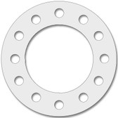 7530 Style PTFE, Virgin PTFE Full Face Gasket For Pipe Size: 6(6) Inches (15.24Cm), Thickness: 1/8(0.125) Inches (0.3175Cm), Pressure: 300# (psi). Part Number: CFF7530.600.125.300