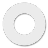 7530 Style PTFE, Virgin PTFE Ring Gasket For Pipe Size: 1 1/2(1.5) Inches (3.81Cm), Thickness: 1/8(0.125) Inches (0.3175Cm), Pressure: 150# (psi). Part Number: CRG7530.1500.125.150