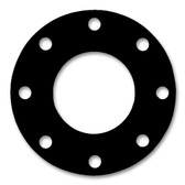 "7106 Neoprene Rubber 60 Durometer Full Face Gasket 6"" Pipe Size,  1/16"" Thick, Pressure Class 150# (Min Qty: 3)"