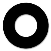 """7106 Neoprene Rubber 60 Durometer Ring Gasket 1"""" Pipe Size,  1/8"""" Thick, Pressure Class 150# (Min Qty: 20)"""