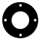 "7106 Neoprene Rubber 60 Durometer Full Face Gasket 1"" Pipe Size,  1/8"" Thick, Pressure Class 150# (Min Qty: 10)"