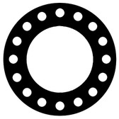 "7106 Neoprene Rubber 60 Durometer Full Face Gasket 12"" Pipe Size,  1/8"" Thick, Pressure Class 300# (Min Qty: 1)"