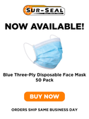 Blue Three-Ply Disposable Face Masks - 50 Pack