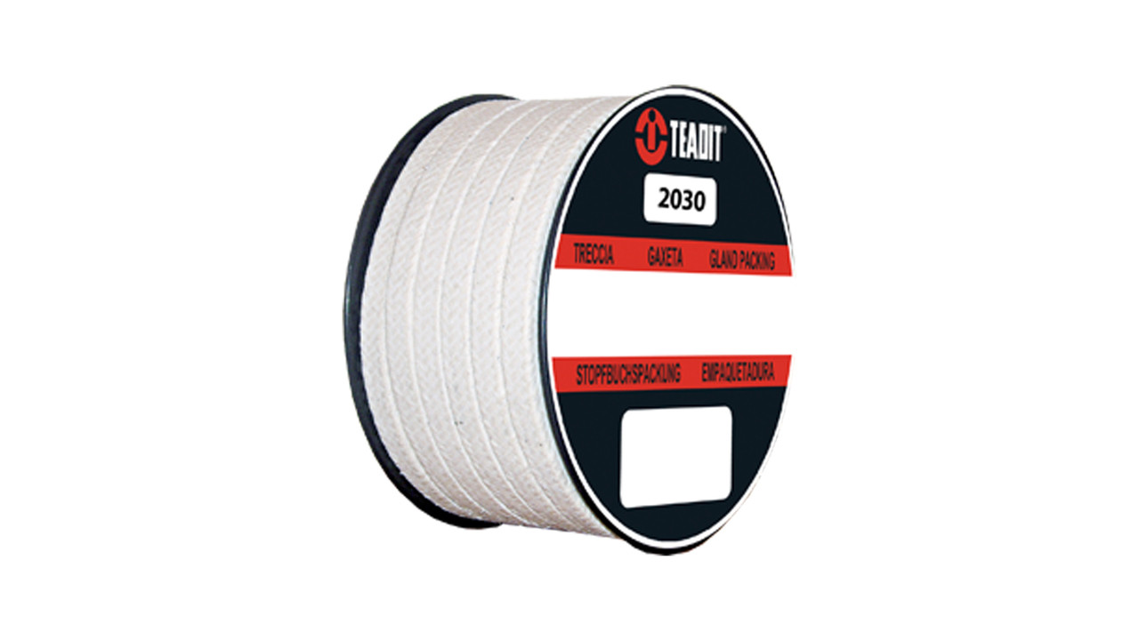 Teadit Style 2030 Meta-Aramid with PTFE and Mineral Oil Packing, Width: 7/8  (0 875) Inches (2Cm 2 225mm), Quantity by Weight: 5 lb  (2 25Kg ) Spool,
