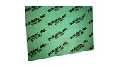 7001 Green Aramid Fibers/NBR Non-Asbestos Compressed Sheet, Dimensions: Length: 29.5 Inches (74.93Cm), Width: 29.5 Inches (74.93Cm), Thickness: 1/16(0.0625) Inches (0.15875Cm) Part Number: GS700106330X30