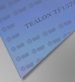 Teadit Style TF1570 Blue structured PTFE Tealon Sheet, Dimensions: Length: 12 Inches (30.48Cm), Width: 12 Inches (30.48Cm), Thickness: 3/32(0.09375) Inches (0.238125Cm) Part Number: TF1570.09312X12