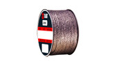 Teadit Style 2000 Braided Flexible Graphite Packing, Width: 1 (1) Inches (2Cm 5.4mm), Quantity by Weight: 2 lb. (0.9Kg.) Spool, Part Number: 2000.100x2