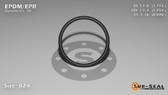 O-Ring, Black EPDM/EPR/Ethylene/Propylene Size: 024, Durometer: 70 Nominal Dimensions: Inner Diameter: 1 9/79(1.114) Inches (2.82956Cm), Outer Diameter: 1 16/63(1.254) Inches (3.18516Cm), Cross Section: 4/57(0.07) Inches (1.78mm) Part Number: OREPD024