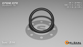 O-Ring, Black EPDM/EPR/Ethylene/Propylene Size: 214, Durometer: 70 Nominal Dimensions: Inner Diameter: 61/62(0.984) Inches (2.49936Cm), Outer Diameter: 1 11/42(1.262) Inches (3.20548Cm), Cross Section: 5/36(0.139) Inches (3.53mm) Part Number: OREPD214