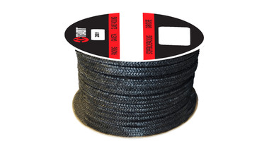 Teadit Style 2001 Graphite Yarn, Graphite Filled Packing,  Width: 1/4 (0.25) Inches (6.35mm), Quantity by Weight: 10 lb. (4.5Kg.) Spool, Part Number: 2001.250x10