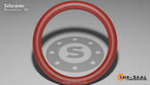 O-Ring, Orange Vinyl Methyl Silicone Size: 174, Durometer: 70 Nominal Dimensions: Inner Diameter: 8 14/19(8.737) Inches (22.19198Cm), Outer Diameter: 8 33/35(8.943) Inches (22.71522Cm), Cross Section: 7/68(0.103) Inches (2.62mm) Part Number: ORSIL174