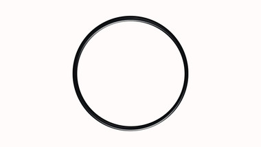 O-Ring, Clear PTFE PFA/FEP Encapsulated Black Viton/FKM Size: 393, Durometer: 75 Nominal Dimensions: Inner Diameter: 23 47/50(23.94) Inches (60.8076Cm), Outer Diameter: 24 9/25(24.36) Inches (61.8744Cm), Cross Section: 17/81(0.21) Inches (5.33mm) Part Number: ORTEVT393