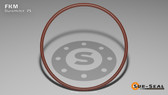 O-Ring, Brown Viton/FKM Size: 220, Durometer: 75 Nominal Dimensions: Inner Diameter: 1 14/39(1.359) Inches (3.45186Cm), Outer Diameter: 1 7/11(1.637) Inches (4.15798Cm), Cross Section: 5/36(0.139) Inches (3.53mm) Part Number: OR75BRNVI220