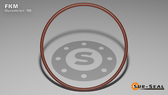 O-Ring, Brown Viton/FKM Size: 202, Durometer: 90 Nominal Dimensions: Inner Diameter: 11/47(0.234) Inches (5.94mm), Outer Diameter: 21/41(0.512) Inches (1.30048Cm), Cross Section: 5/36(0.139) Inches (3.53mm) Part Number: OR90BRNVI202