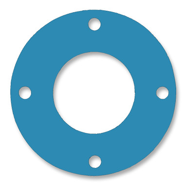 Teadit, NSF-61 SAN 1082, Full Face Gasket, Pipe Size: 1 1/4(1.25) Inches (3.175Cm), Thickness: 1/16(0.062) Inches (1.5748mm), Pressure: 150# (psi), Inner Diameter: 1 21/32(1.65625)Inches (4.206875Cm), Outer Diameter: 4 5/8(4.625)Inches (11.7475Cm), With 4 - 5/8(0.625) (1.5875Cm) Bolt Holes, Part Number: CFF1082.1250.062.150