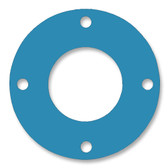 Teadit, NSF-61 SAN 1082, Full Face Gasket, Pipe Size: 1 1/2(1.5) Inches (3.81Cm), Thickness: 1/8(0.125) Inches (3.175mm), Pressure: 300# (psi), Inner Diameter: 1 29/32(1.90625)Inches (4.841875Cm), Outer Diameter: 6 1/8(6.125)Inches (15.5575Cm), With 4 - 3/4(0.75) (1.905Cm) Bolt Holes, Part Number: CFF1082.1500.125.300