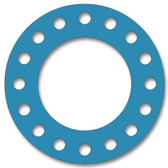 Teadit, NSF-61 SAN 1082, Full Face Gasket, Pipe Size: 18(18) Inches (45.72Cm), Thickness: 1/16(0.062) Inches (1.5748mm), Pressure: 150# (psi), Inner Diameter: 18(18)Inches (45.72Cm), Outer Diameter: 25(25)Inches (63.5Cm), With 16 - 1 1/4(1.25) (3.175Cm) Bolt Holes, Part Number: CFF1082.1800.062.150