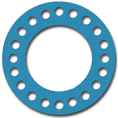 Teadit, NSF-61 SAN 1082, Full Face Gasket, Pipe Size: 20(20) Inches (50.8Cm), Thickness: 1/16(0.062) Inches (1.5748mm), Pressure: 300# (psi), Inner Diameter: 20(20)Inches (50.8Cm), Outer Diameter: 30 1/2(30.5)Inches (77.47Cm), With 24 - 1 3/8(1.375) (3.4925Cm) Bolt Holes, Part Number: CFF1082.2000.062.300