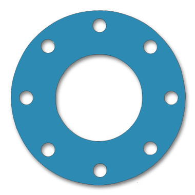 Teadit, NSF-61 SAN 1082, Full Face Gasket, Pipe Size: 2 1/2(2.5) Inches (6.35Cm), Thickness: 1/32(0.03125) Inches (0.79375mm), Pressure: 300# (psi), Inner Diameter: 2 7/8(2.875)Inches (7.3025Cm), Outer Diameter: 7 1/2(7.5)Inches (19.05Cm), With 8 - 7/8(0.875) (2.2225Cm) Bolt Holes, Part Number: CFF1082.2500.031.300