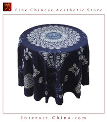 100% Hand Batik All Cotton 200cm Round Table Cloth Cover Tapestry Home Decor #156