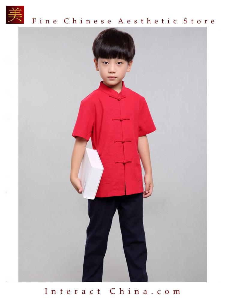 100% Handmade Boys Kung Fu Tai Chi Shirt Martial Arts Costume Kids