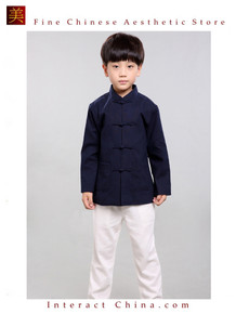 100% Handmade Boys Long Sleeve Kung Fu Tai Chi Martial Arts Kids Jacket #101