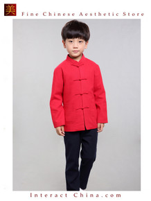 100% Handmade Boys Long Sleeve Kung Fu Tai Chi Martial Arts Kids Jacket #102