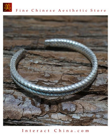 Fine 99 Cuff Bracelet High Purity Sterling Silver Jewelry 100% Handcrafted #109