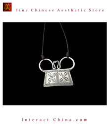 100% Handmade Miao Tribal Silver Pendant Chain Necklace for Women #105