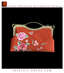 100% Hand Embroidery Handbag Purse Clutch Evening Bag #102