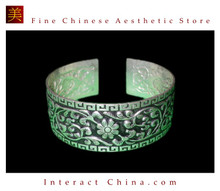 Tribal Silver Cuff Bracelet Chinese Ethnic Hmong Miao Jewelry #207 Unique Handmade