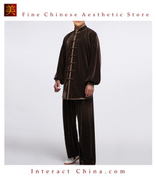 Flowing Unisex Velvet Suit for Tai Chi and Leisure Time in Chinese Style #102